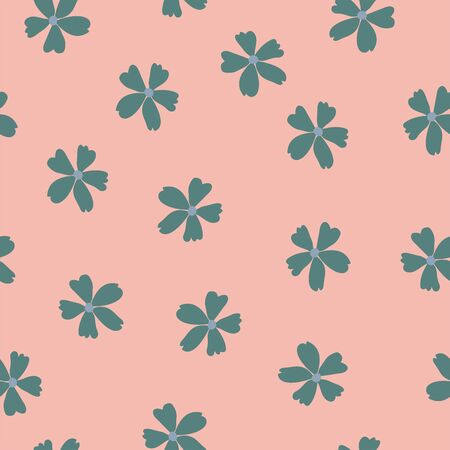 Vintage inspired ditsy floral seamless vector pattern