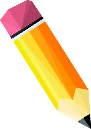 低ポリで黄色の鉛筆