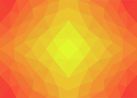 낮은 폴리 아트 옐로우, 오렌지 및 레드