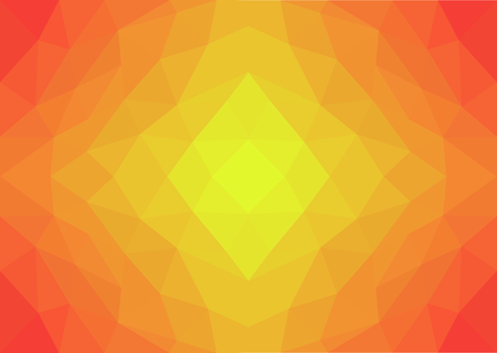 Low Poly Art Yellow, Orange and Red Illusztráció