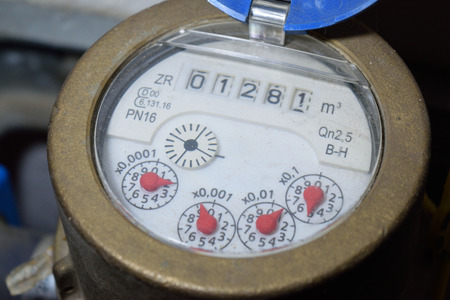 Water meter Standard-Bild
