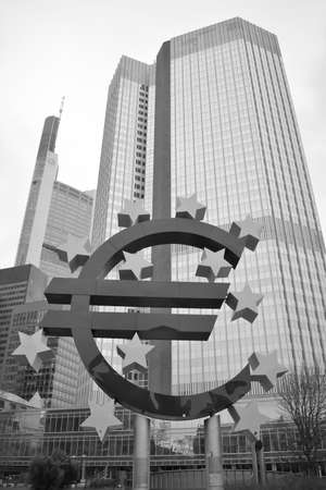 central european: European central bank in Frankfurt