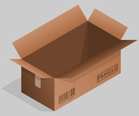 Brown cardboard box with background