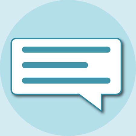 Chat bubbles icon Standard-Bild - 117796708