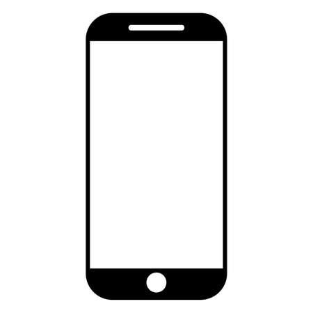Simple black smartphone vector icon Standard-Bild - 117796803
