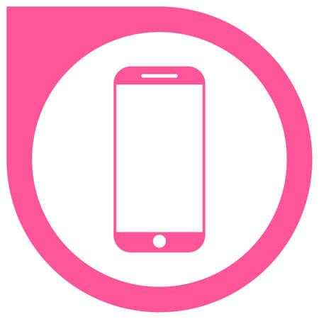 Simple pink smartphone vector icon Standard-Bild - 117796813