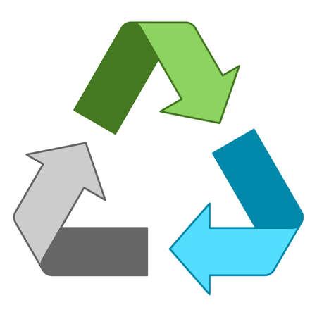 Simple mixed recycling logo design Standard-Bild - 117796814