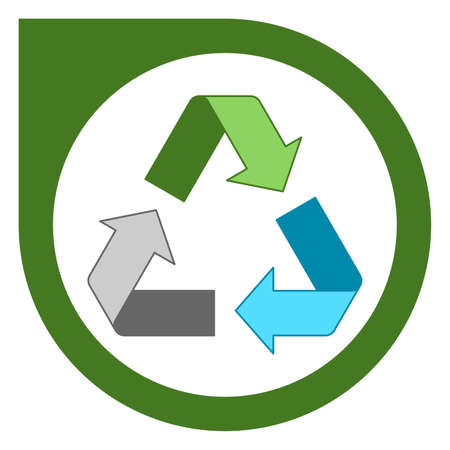 Simple mixed recycling logo design Standard-Bild - 117796815