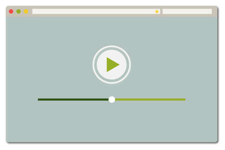 Simple web browser with video playback - green
