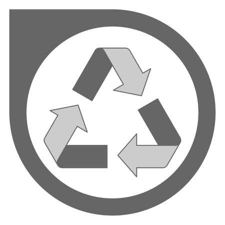 Simple grey recycling logo design Standard-Bild - 117796856