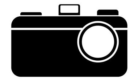 Simple camera logo design - black Standard-Bild - 117796859