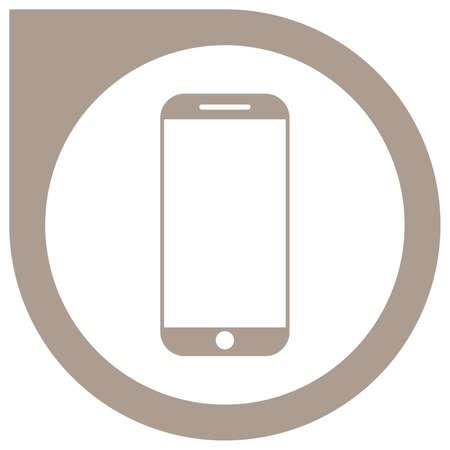 Simple grey smartphone vector icon