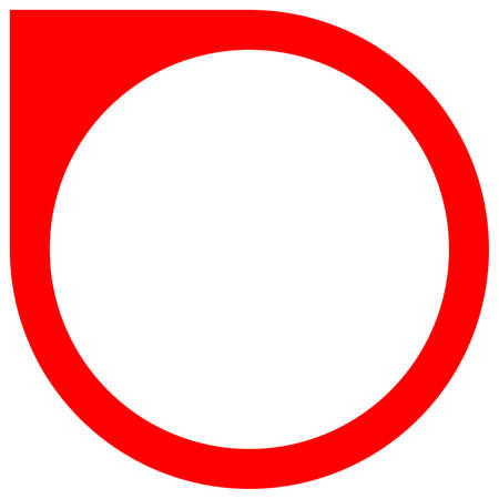 Red circle map pointer