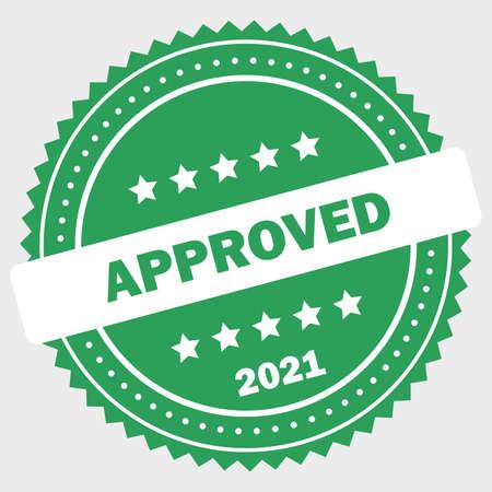 Simple approved logo design stamp Standard-Bild - 117796865