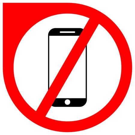 Simple smartphone forbidden vector icon Standard-Bild - 117796866