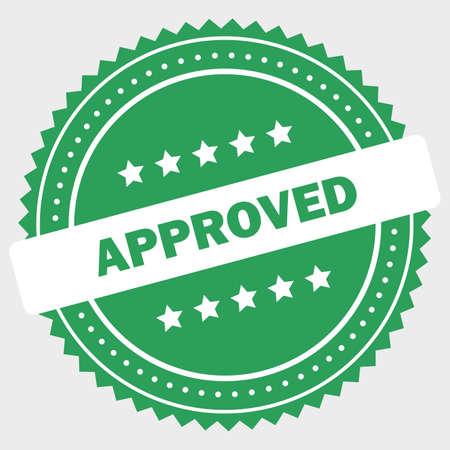 Simple approved logo design stamp