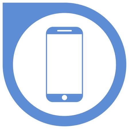 Simple blue smartphone vector icon