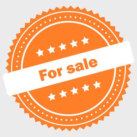 Simple for sale logo design Standard-Bild - 117796886