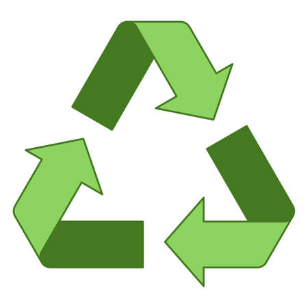 Simple green recycling logo design