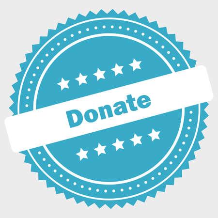 Simple donate logo design - blue Illustration