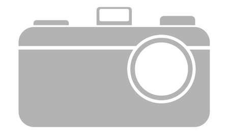 Simple camera logo design - grey