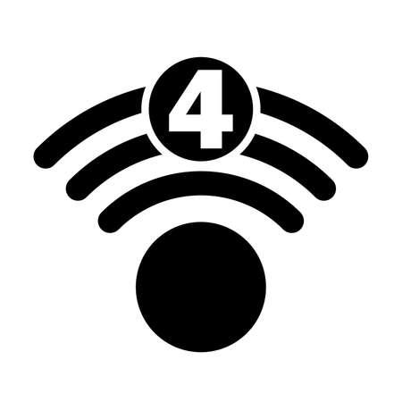 Wi-Fi 4 generation logo design Illustration
