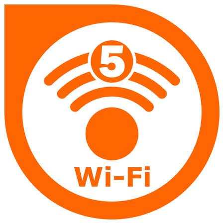 Wi-Fi 5 generation logo design Standard-Bild - 117797024