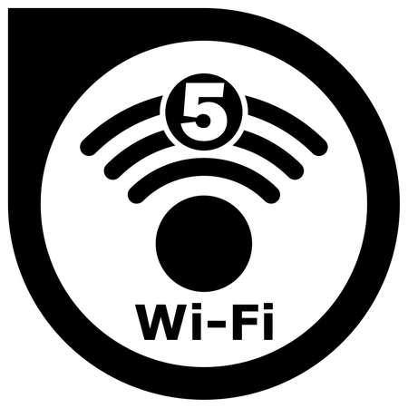 Wi-Fi 5 generation logo design Standard-Bild - 117797035
