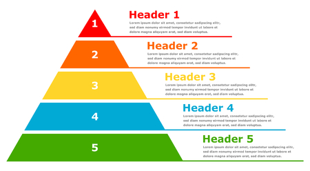 Pyramid infographic chart business design Standard-Bild - 117797065