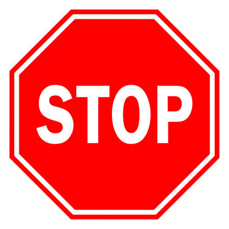 Stop sign Illustration
