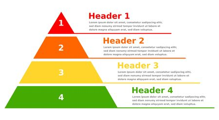 Pyramid infographic chart business design 矢量图像