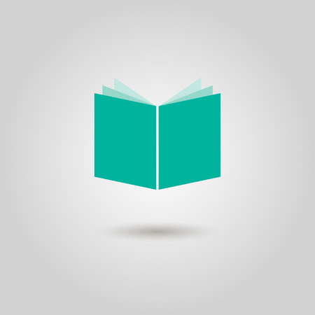 book icon with shadow  vector illustration Vector
