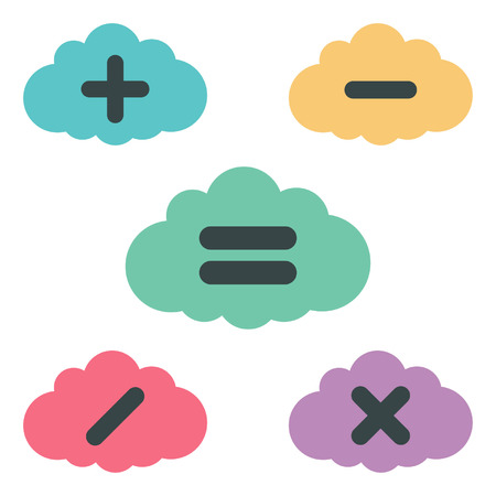 clouds arithmetic  vector illustration