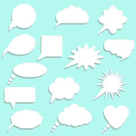 speech bubbles with shadow set  vector illustration Vector