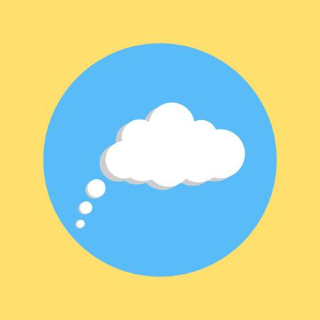 halfone: communication cloud on yellow-blue background illustration