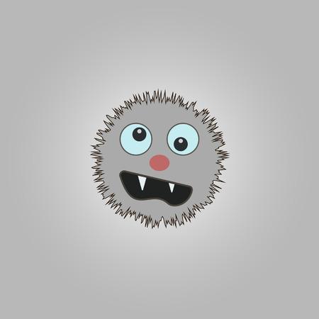 funny cartoon monster.  Vector