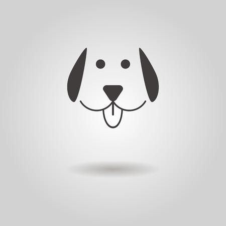 図の影犬アイコン  イラスト・ベクター素材