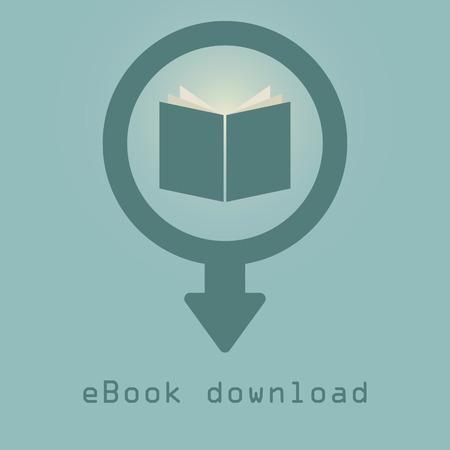 downloading e-books icon illustration