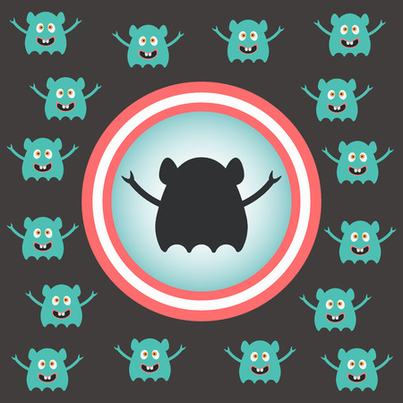cute alien: cute alien invasion. vector illustration