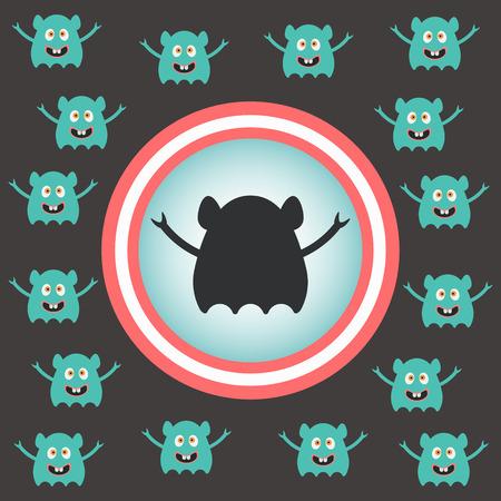 invasion: invasion extraterrestre mignon. illustration vectorielle
