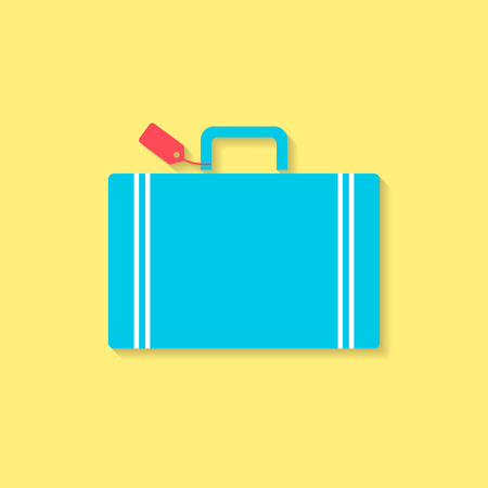 luggage flat icon, travel conception. Vector