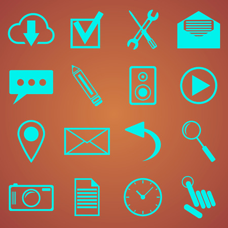 web icons set for web and mobile applications Vector