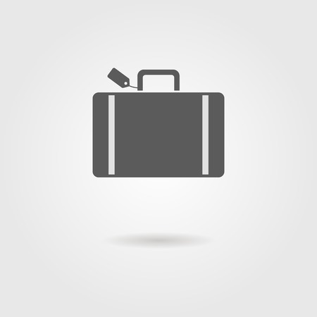 luggage tag: luggage icon with shadow. vector illustration