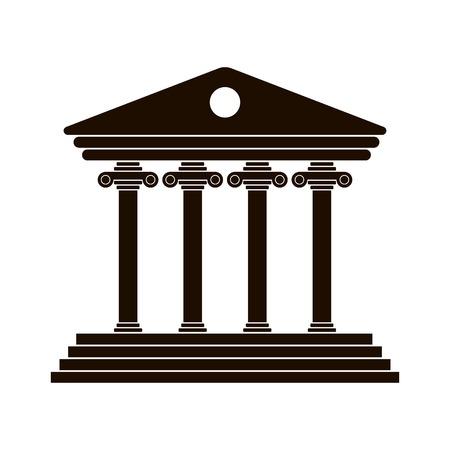 black Greek colonnade. trendy modern vector illustration