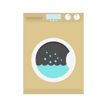 washing machine icon. isolated on white background. flat design modern vector illustration
