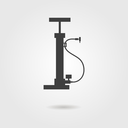 bicycle pump: bicycle pump icon with shadow. vector illustration