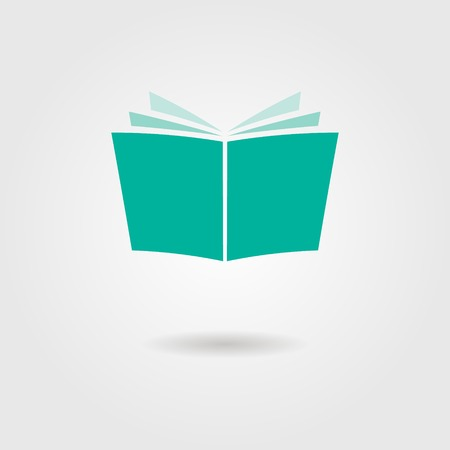 open book icon: journal icon with shadow. isolated on stylish background. vector illustration