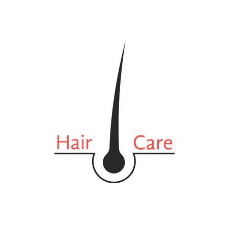 sebaceous: hair follicle icon isolated on white background concept of scalp care, haircare, cosmetics, hairdressing services, haircutting, healthy lifestyle. flat style modern logotype design vector illustration Illustration