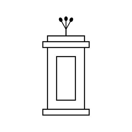 narrator: outline black tribune icon isolated on white background. concept of voting, announcement, leadership, interview, journalism, politics, president, narrator. flat style modern design illustration Illustration