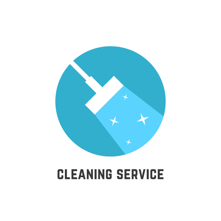 simple cleaning service logotype